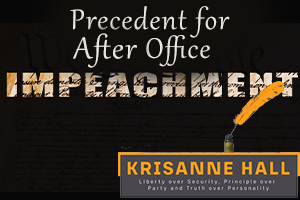 The Precedent for After Office Impeachment